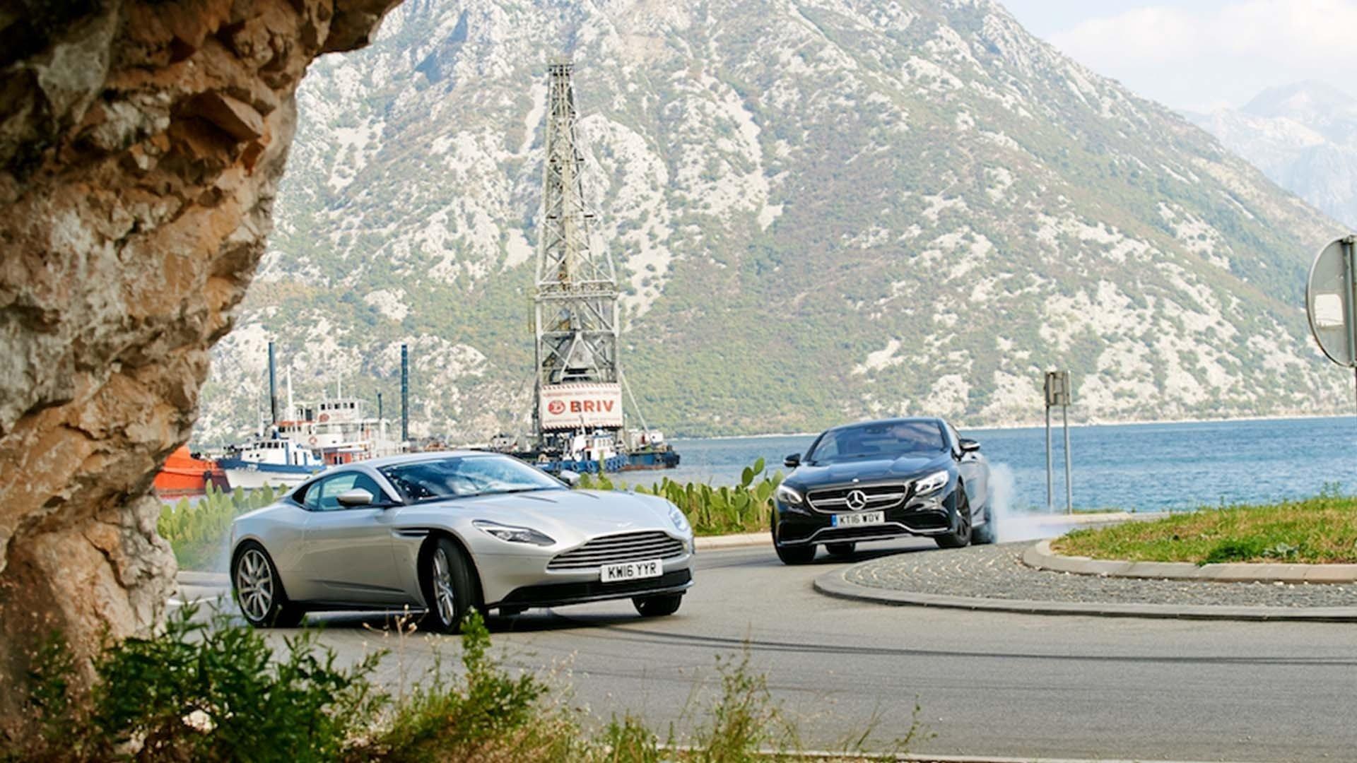 Top Gear 24 Episode 3 James Bond Shootout Aston Martin Db11 Vs Mercedes Amg S63 Motortrend